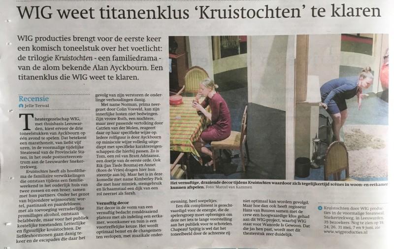 recensie Kruistochten  Friesch Dagblad - Jelle Terwal